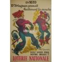 Loterie Nationale en 1639 d'Artagnan prenait (WK 02851)